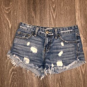 Women's Free People distressed denim shorts
